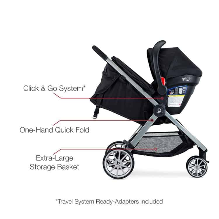 Britax B-Lively Travel System with B-Safe 35 Infant Car Seat features 4