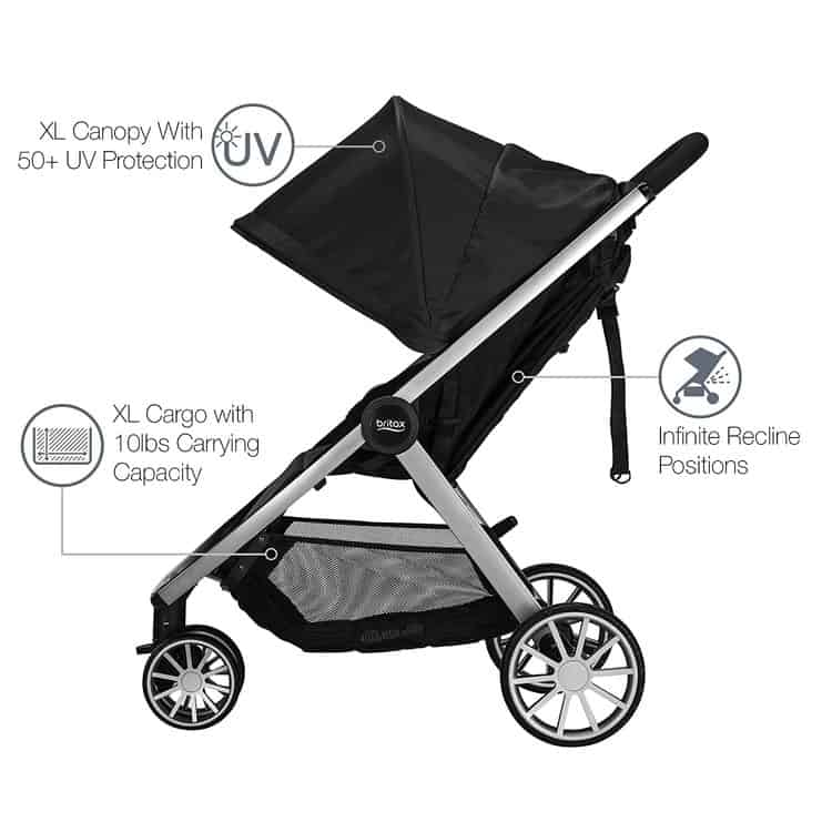Britax B-Lively Travel System with B-Safe 35 Infant Car Seat features 6