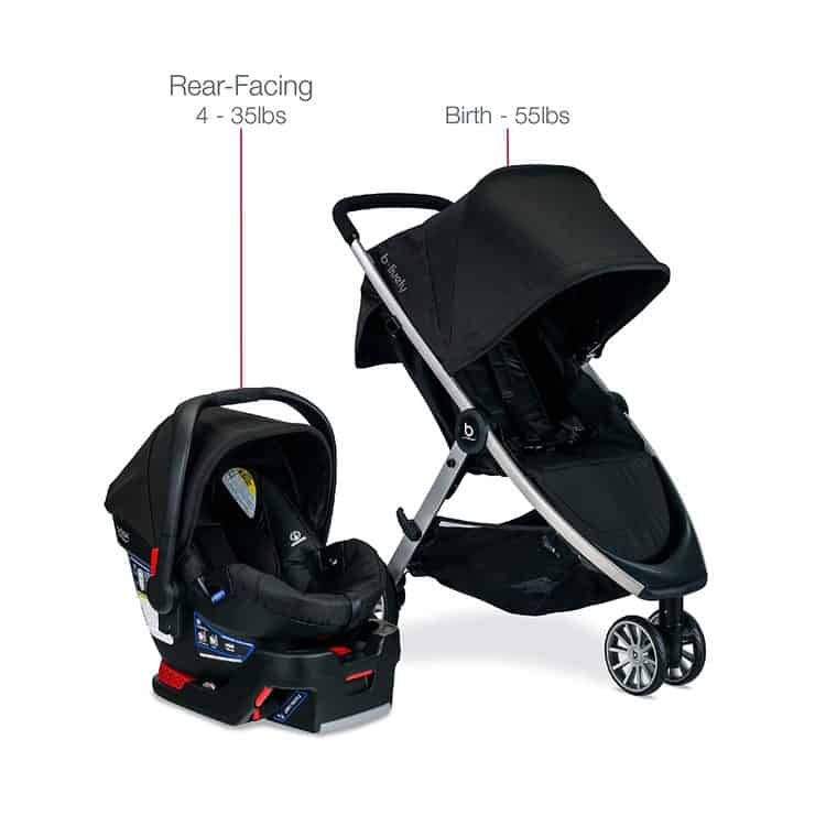 Britax B-Lively Travel System with B-Safe 35 Infant Car Seat features