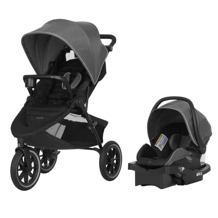 Evenflo Folio3 Stroll & Jog Travel System LiteMax 35 Infant Car Seat