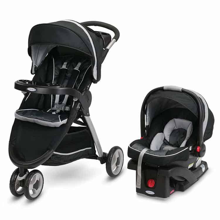 Graco FastAction Fold Sport Travel System - Includes the FastAction Fold Sport 3-Wheel Stroller and SnugRide 35 Infant Car Seat
